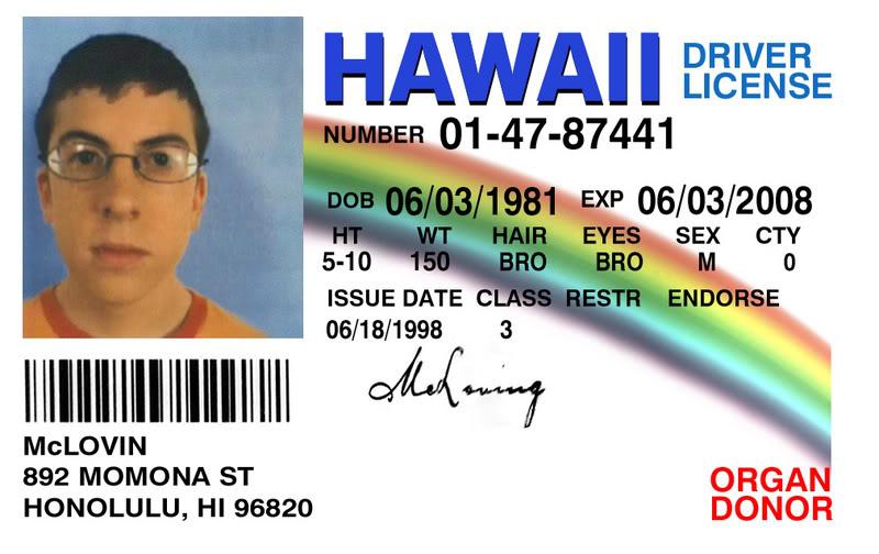Fake ID McLovin